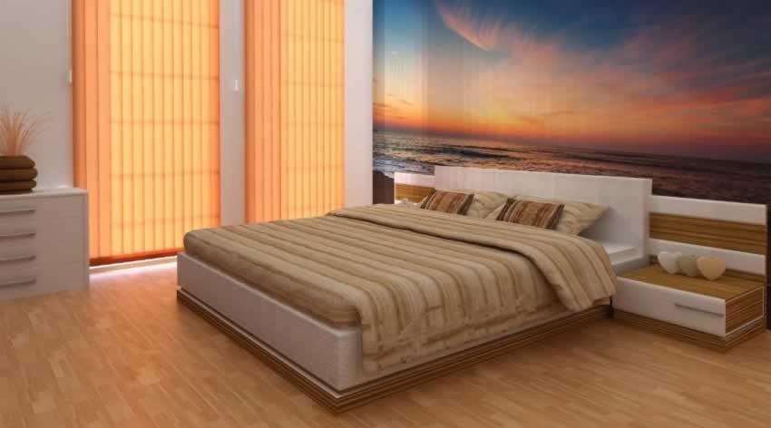 Fototapeta do sypialni ze wschodem słońca nad morzem