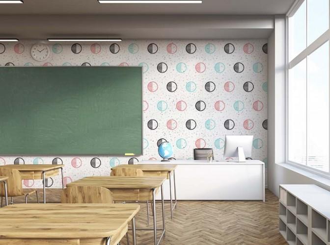 Fototapeta do sali lekcyjnej w kołami