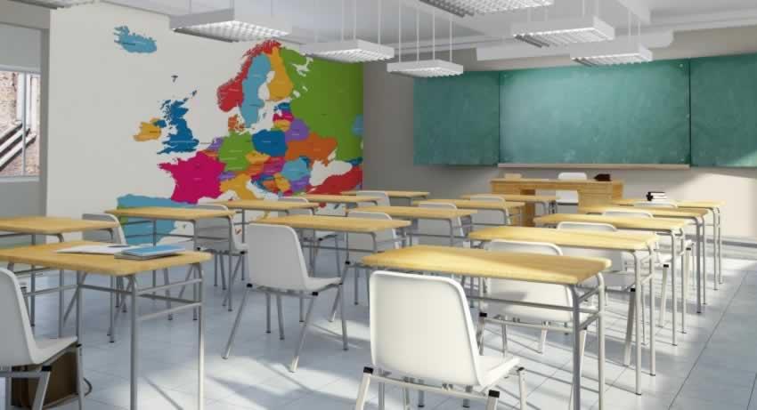 Fototapeta do szkoły z motywem mapy Europy