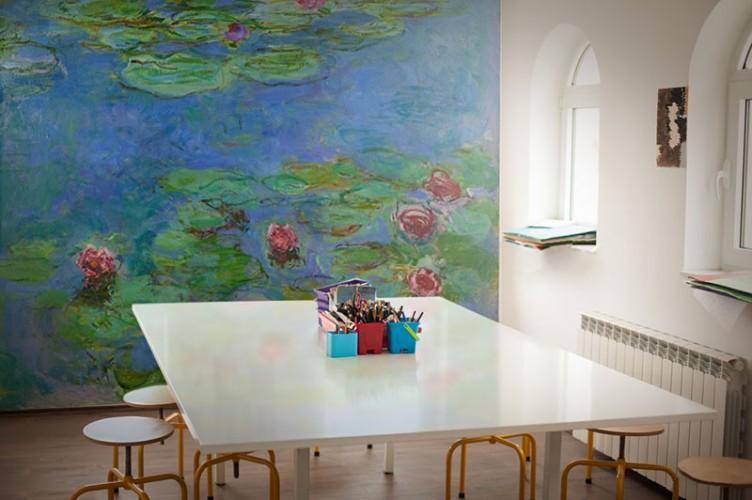 Fototapeta z liliami wodnymi Moneta do pracowni plastycznej w szkole