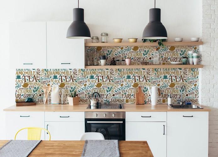 Fototapeta z napisami herbata do kuchni