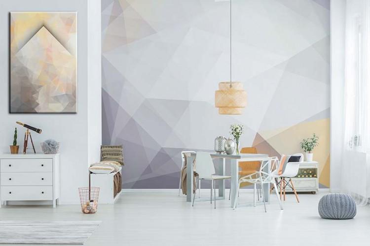 Fototapeta z abstrakcją geometryczną w pastelowych kolorach