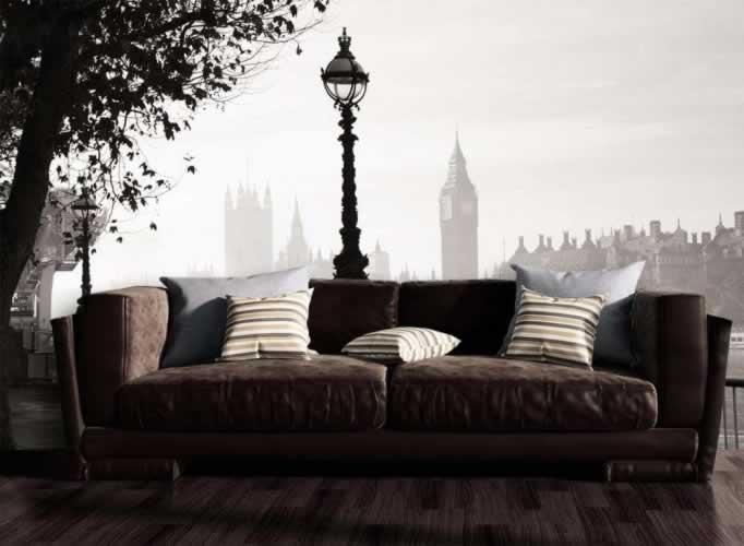 Fototapeta z motywem latarni we mgle