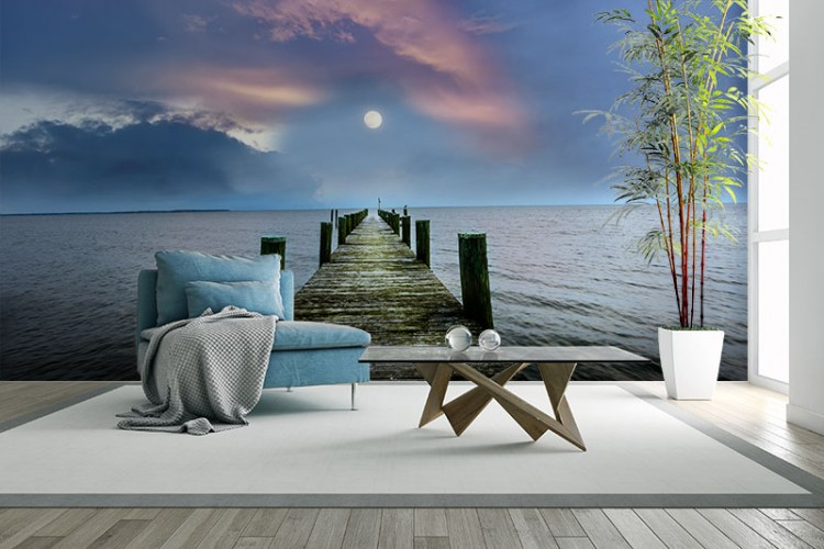 Fototapeta do salonu z molo nad morzem
