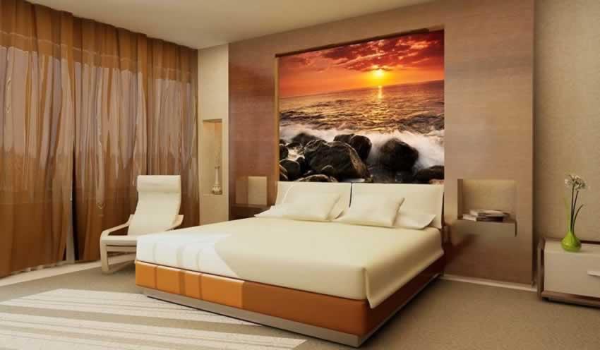 Fototapeta z motywem zachodu słońca nad morzem