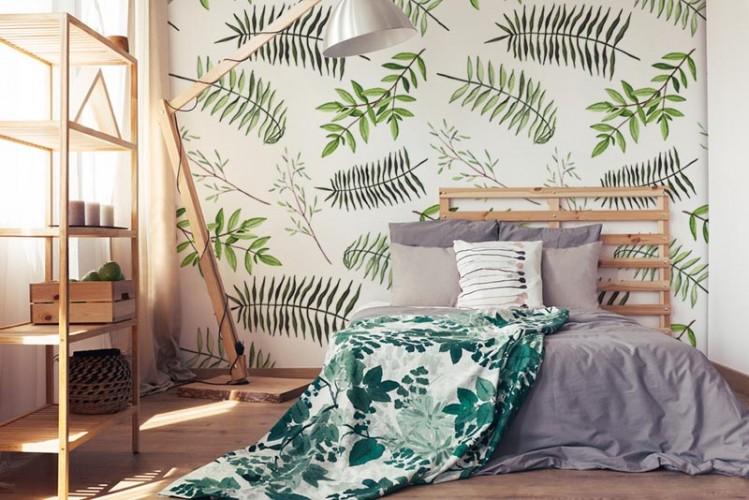 Fototapeta do sypialni w stylu eko