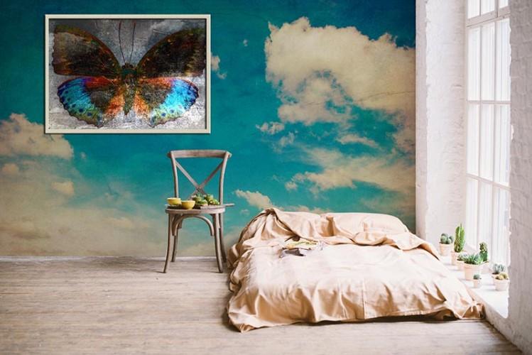 Fototapeta w stylu grunge z motywem nieba