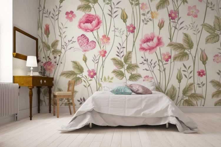 Fototapeta w stylu romantycznym do sypialni