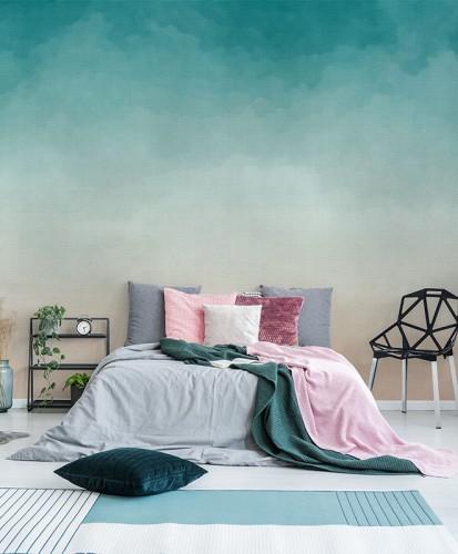 Fototapeta z pastelowym tłem do sypialni