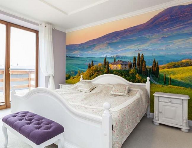 Fototapeta z motywem Toskanii do sypialni