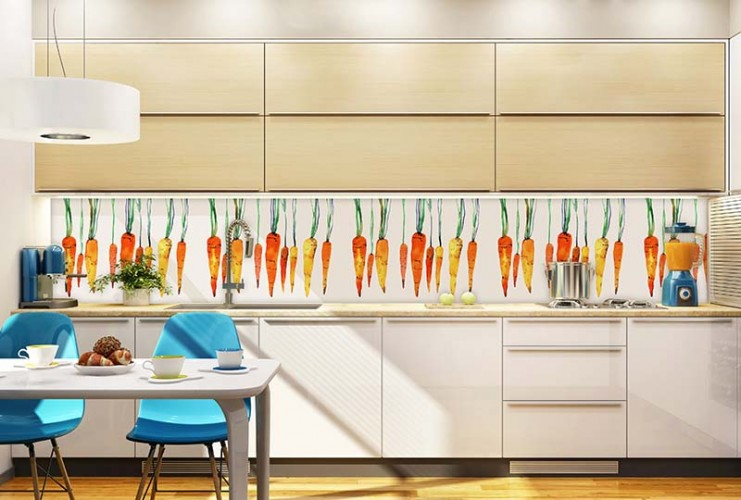 Fototapeta do kuchni - marchewki jak malowane