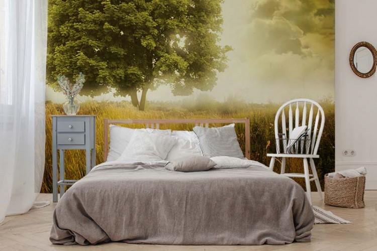 Fototapeta z wiejskim krajobrazem do sypialni