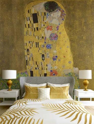 Fototapeta z obrazem Pocałunek Gustava Klimta do sypialni