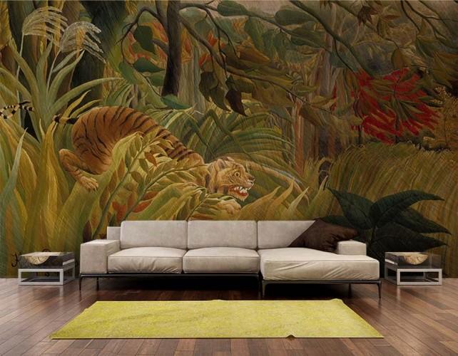 Fototapeta do salonu - reprodukcja obrazu Henri Rousseau