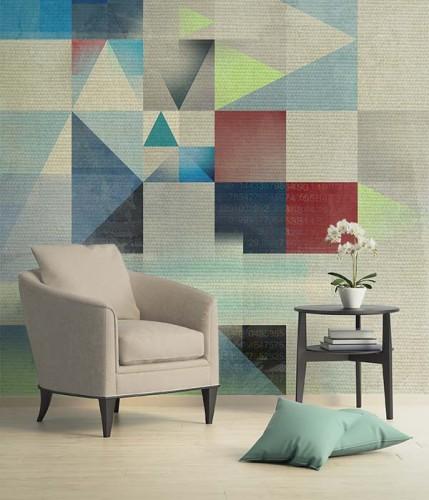 Fototapeta z kolorowym wzorem geometrycznym