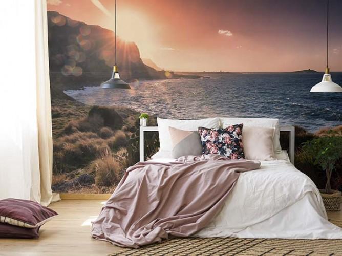 Fototapeta z motywem wschodu słońca do sypialni