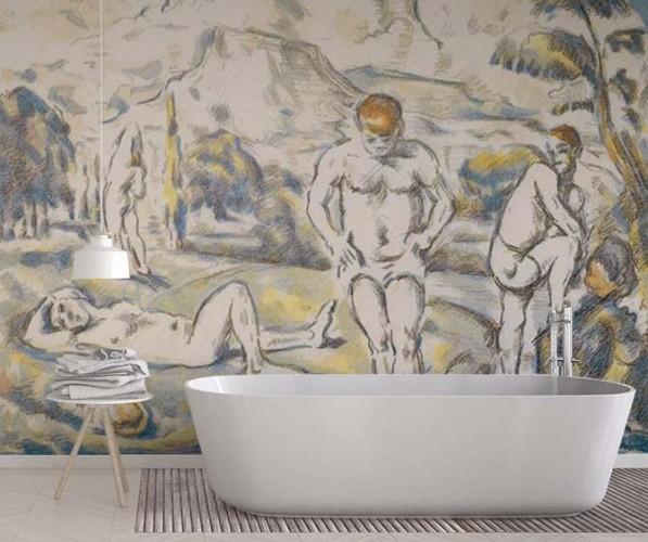Fototapeta do łazienki z reprodukcją Paula Cezanne'a