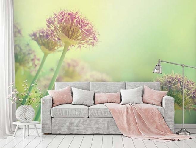 Fototapeta z kwiatami w pastelowych, wiosennych kolorach