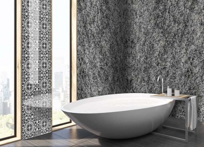 Fototapeta do łazienki ze wzorem granitu