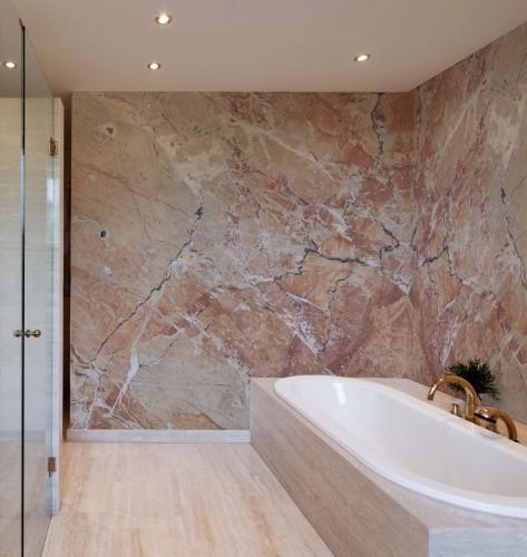 Fototapeta do łazienki z motywem marmuru