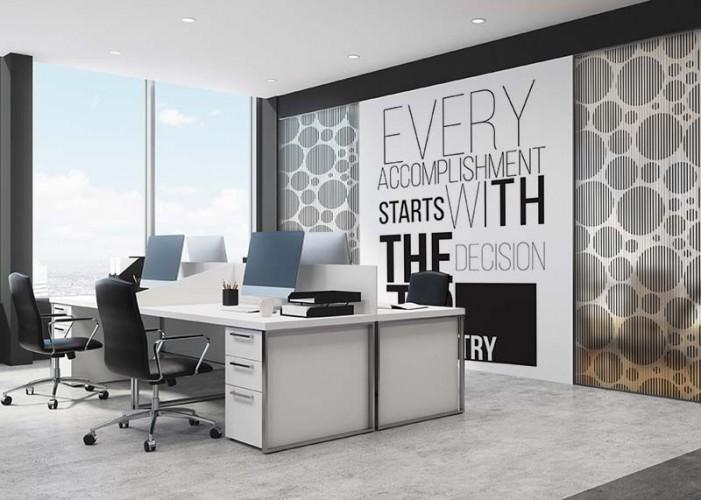 Naklejka witrażowa na szybę do biura - wzór abstrakcyjny, koła
