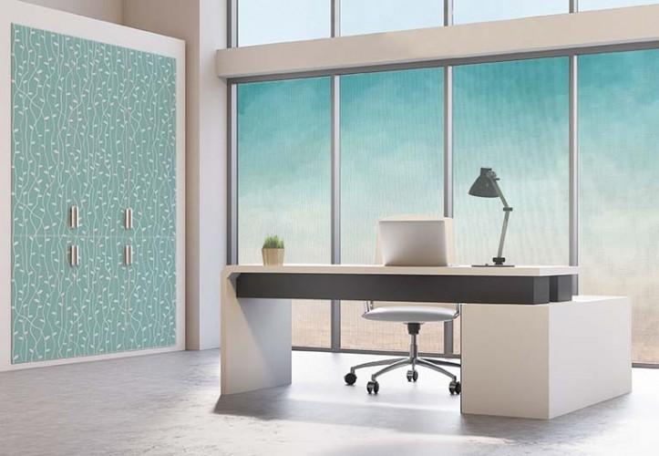 Naklejka na szafki w biurze - motyw roślinny