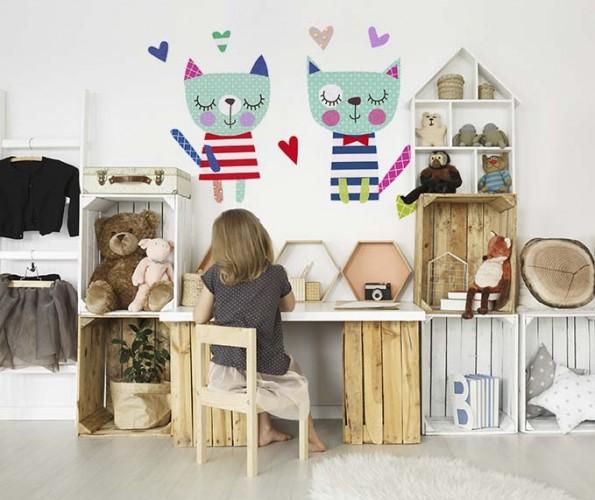 Naklejka z kotkami do pokoju dziecka