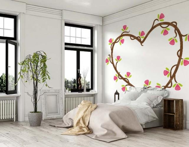 Romantyczna Naklejka Na ścianę Do Sypialni Twoje Fototapetypl