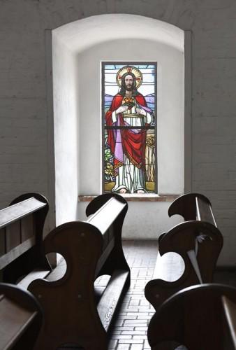 Naklejka witrażowa - Święte Serce Jezusa