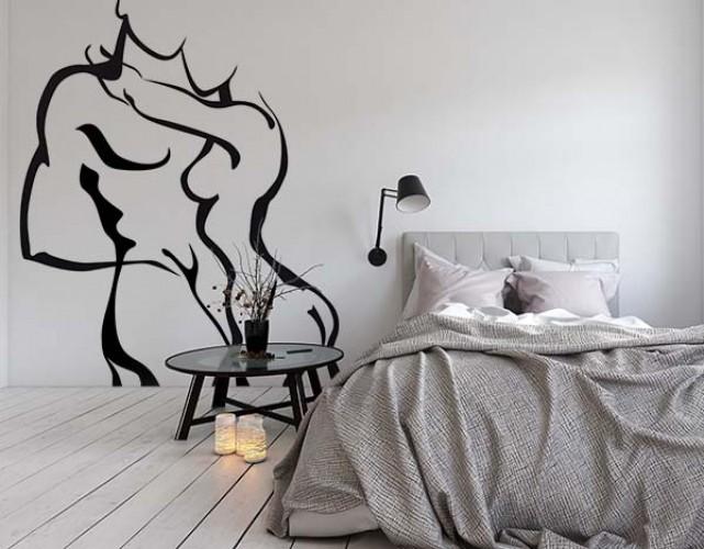 Romantyczna naklejka na ścianę do sypialni