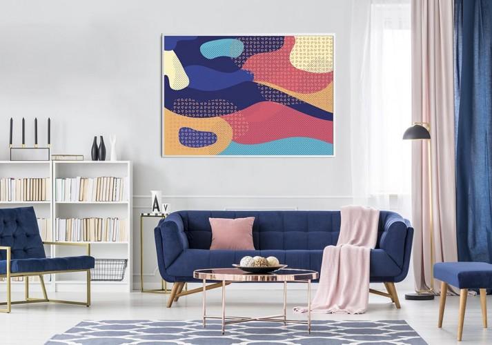 Obraz na płótnie z kolorowa abstrakcją do salonu