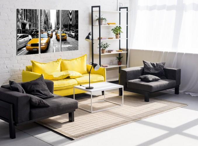 Obraz z miastem Nowy York i żółtymi taksówkami