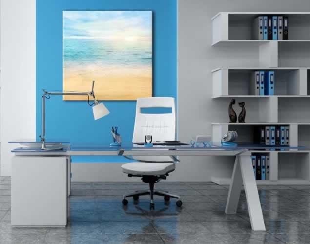 Obraz na płótnie do biura z motywem plaży nad morzem