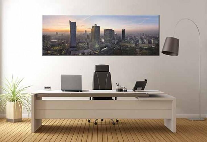 Obraz na płótnie do biura z panoramą Warszawy