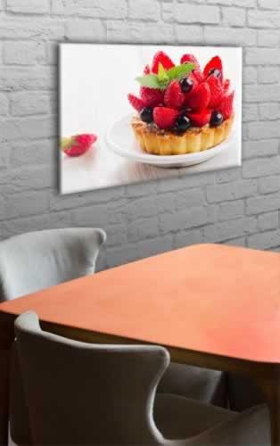Obraz na płótnie do cukierni z motywem tarty z owocami