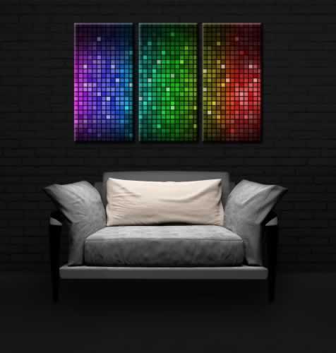 Obraz na płótnie do klubu tanecznego z kolorową abstrakcją