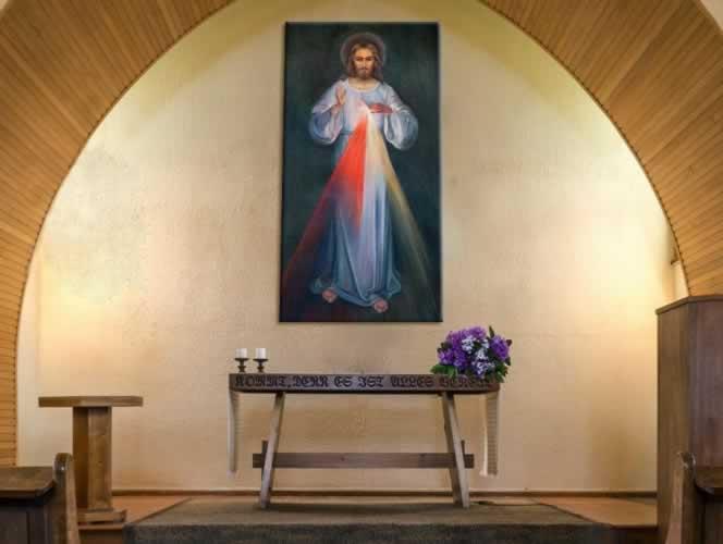 Obraz na płótnie do kościoła z przedstawieniem Jezusa Chrystusa