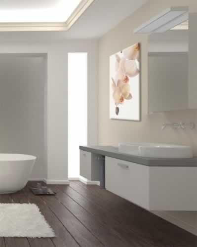 Obraz na płótnie do łazienki z motywem białego storczyka