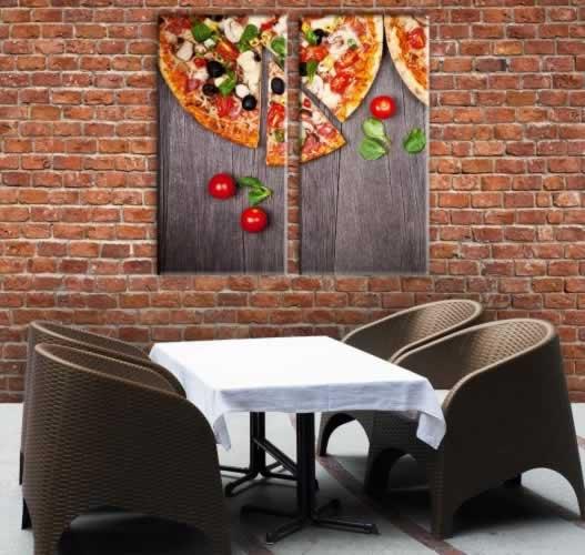Obraz na płótnie do pizzerii (2-częściowy)