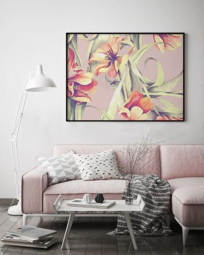 Obraz na płótnie do salonu z tulipanami