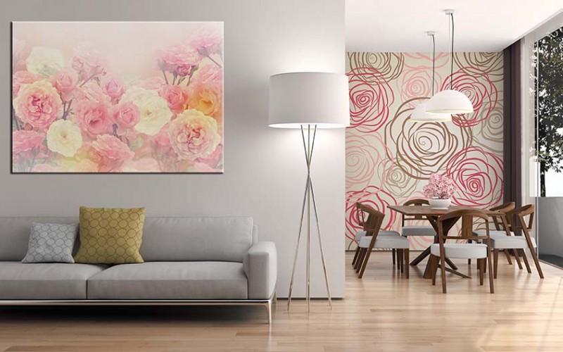 Obraz na płótnie do salonu - róże