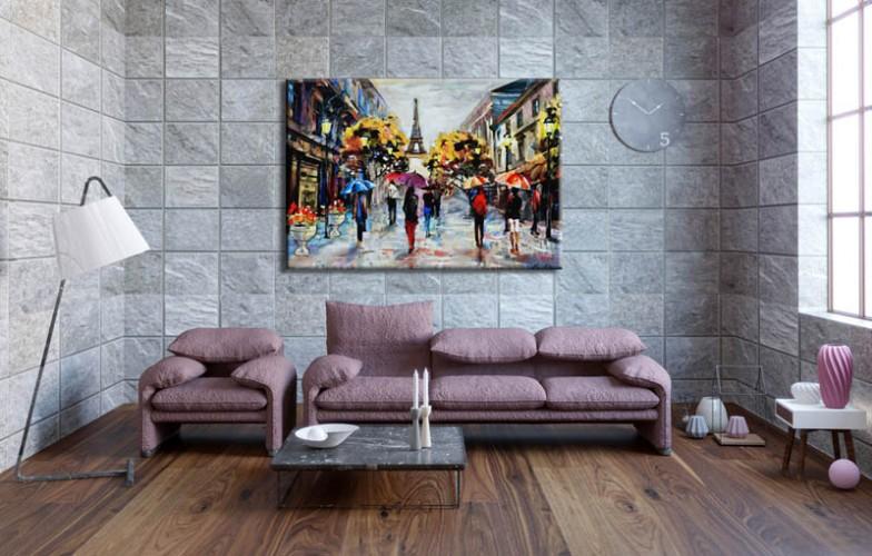 Obraz na płótnie jak malowany - Widok na ulicę Paryża