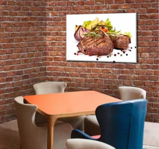 Obraz na płótnie do stakhouse z motywem smażonego steku