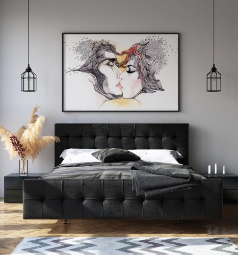 Obraz do sypialni - Pocałunek