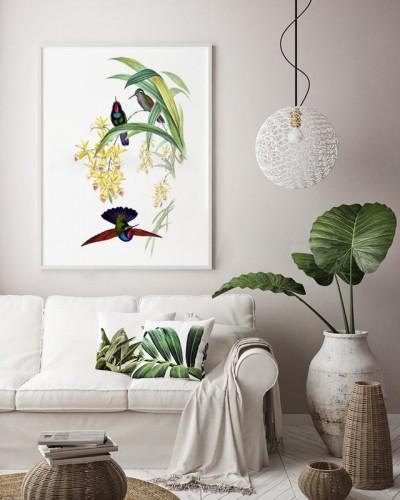 Obraz na płótnie z kolibrami