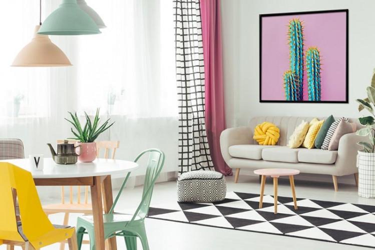 Obraz na płótnie z kaktusem