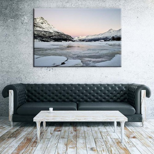 Obraz na płótnie - góry i lodowce