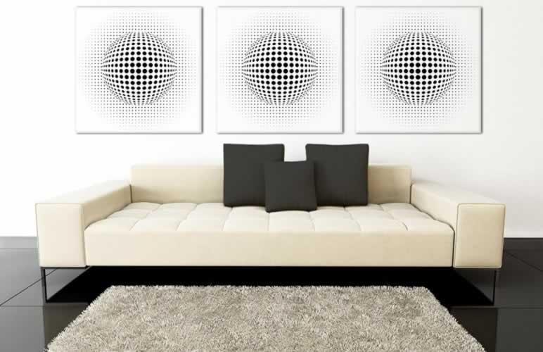 Obraz na płótnie z motywem optycznej iluzji