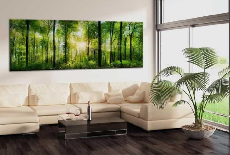 Obraz na płótnie z motywem lasu