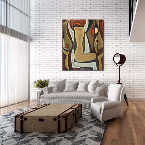 Obraz na płótnie z abstrakcją do nowoczesnego wnętrza